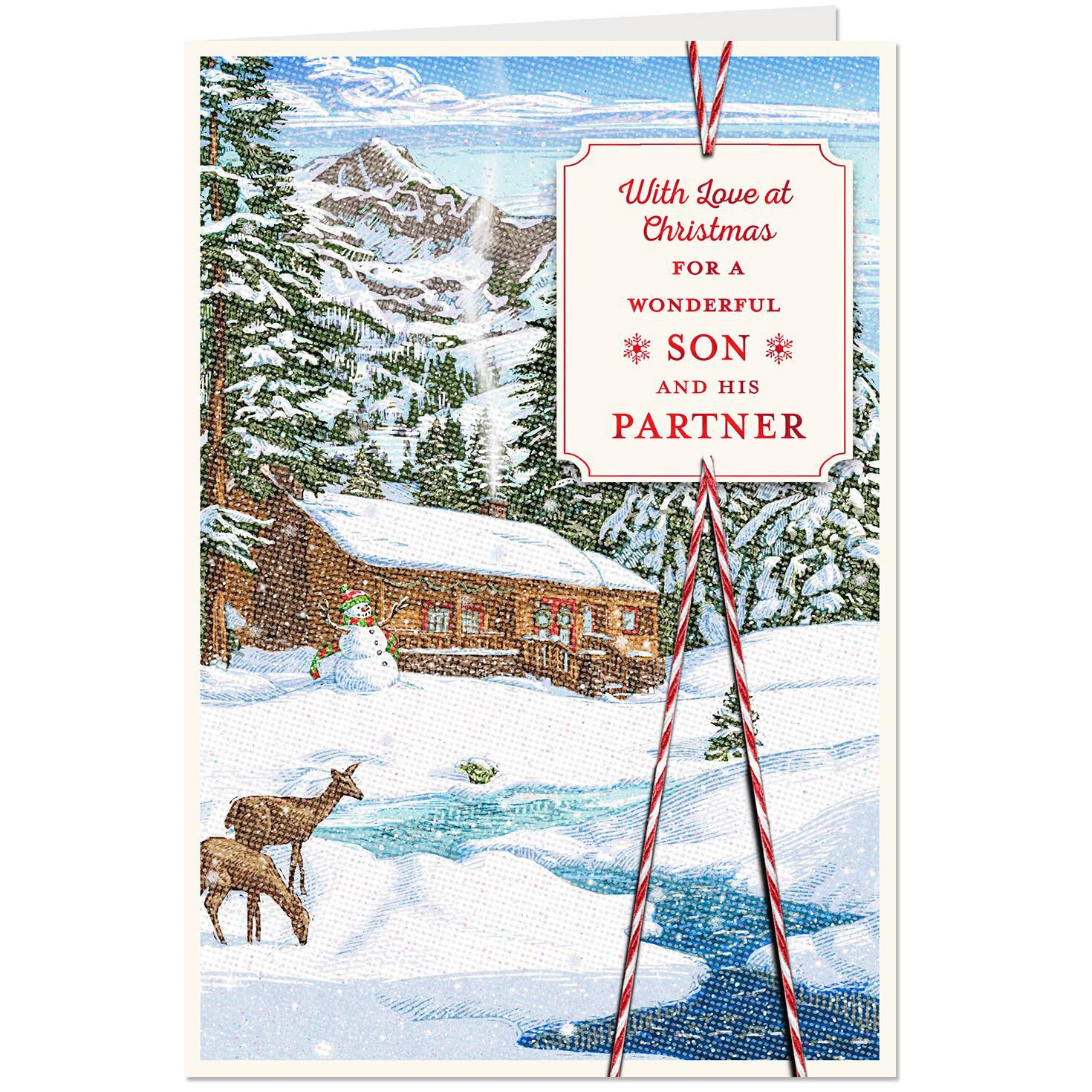 Double the Joy Christmas Card for Son and Partner - Greeting Cards ...
