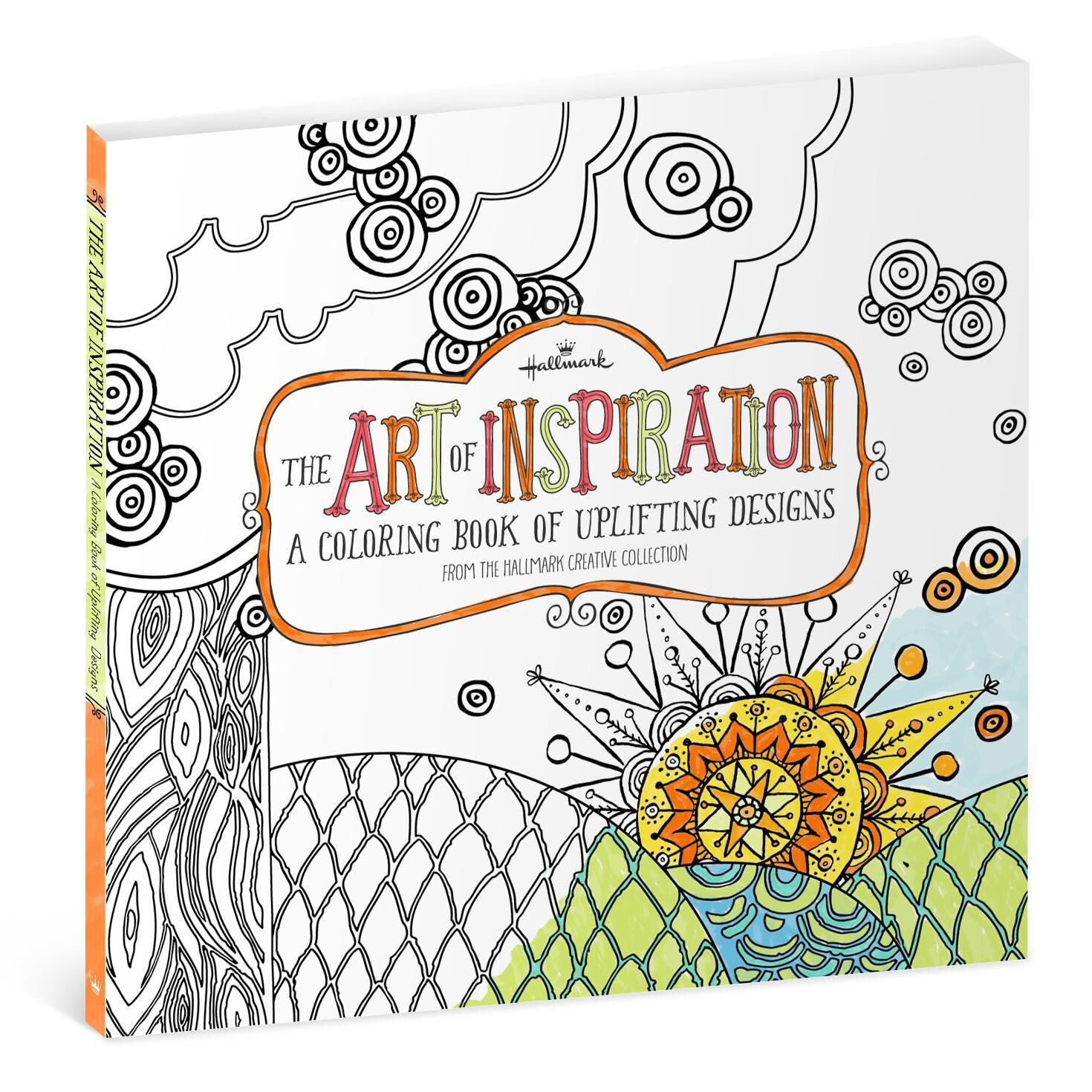 The coloring book for adults - The Art Of Inspiration Uplifting Designs Coloring Book For Adults Coloring Books Hallmark