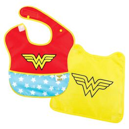 WONDER WOMAN™ SuperBib With Cape by Bumkins, , large