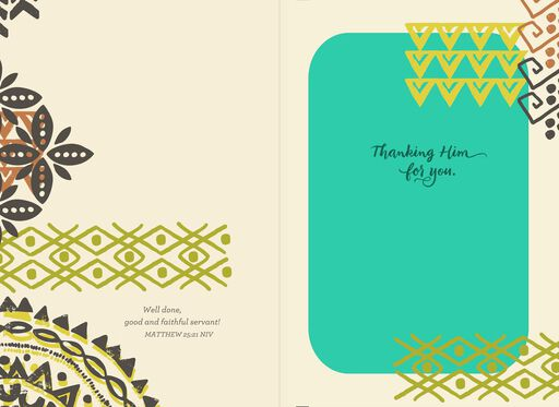 Selfless Serving Religious Thank You Card,