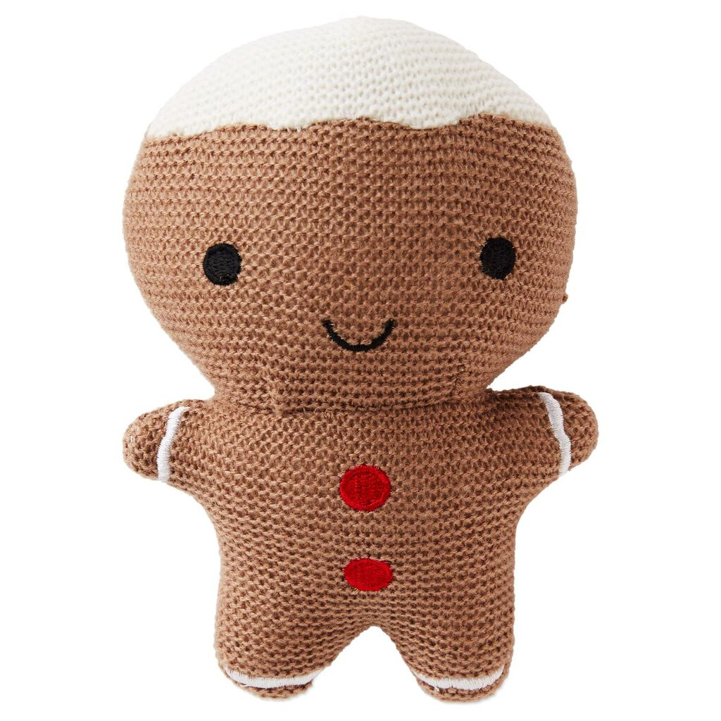 Gingerbread Man Stuffed Rattle Baby Toddler Toys Hallmark