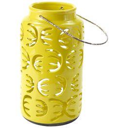 """Large Yellow Ceramic Lantern, 12.5"""", , large"""