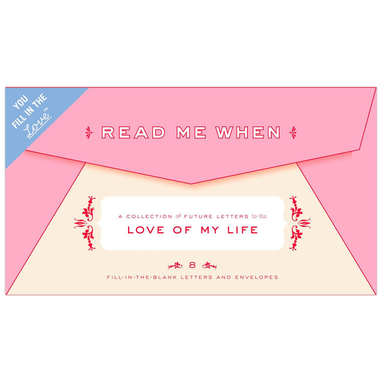 Read Me When Love of My Life Letters Keepsake Box Relationship