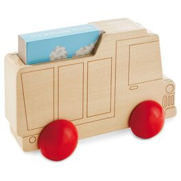 Wood Truck Toy With Book, , large