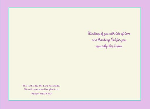To a Special Daughter and Her Family Religious Easter Card,