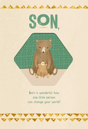 Papa Bear and Cub First Father's Day Card for Son