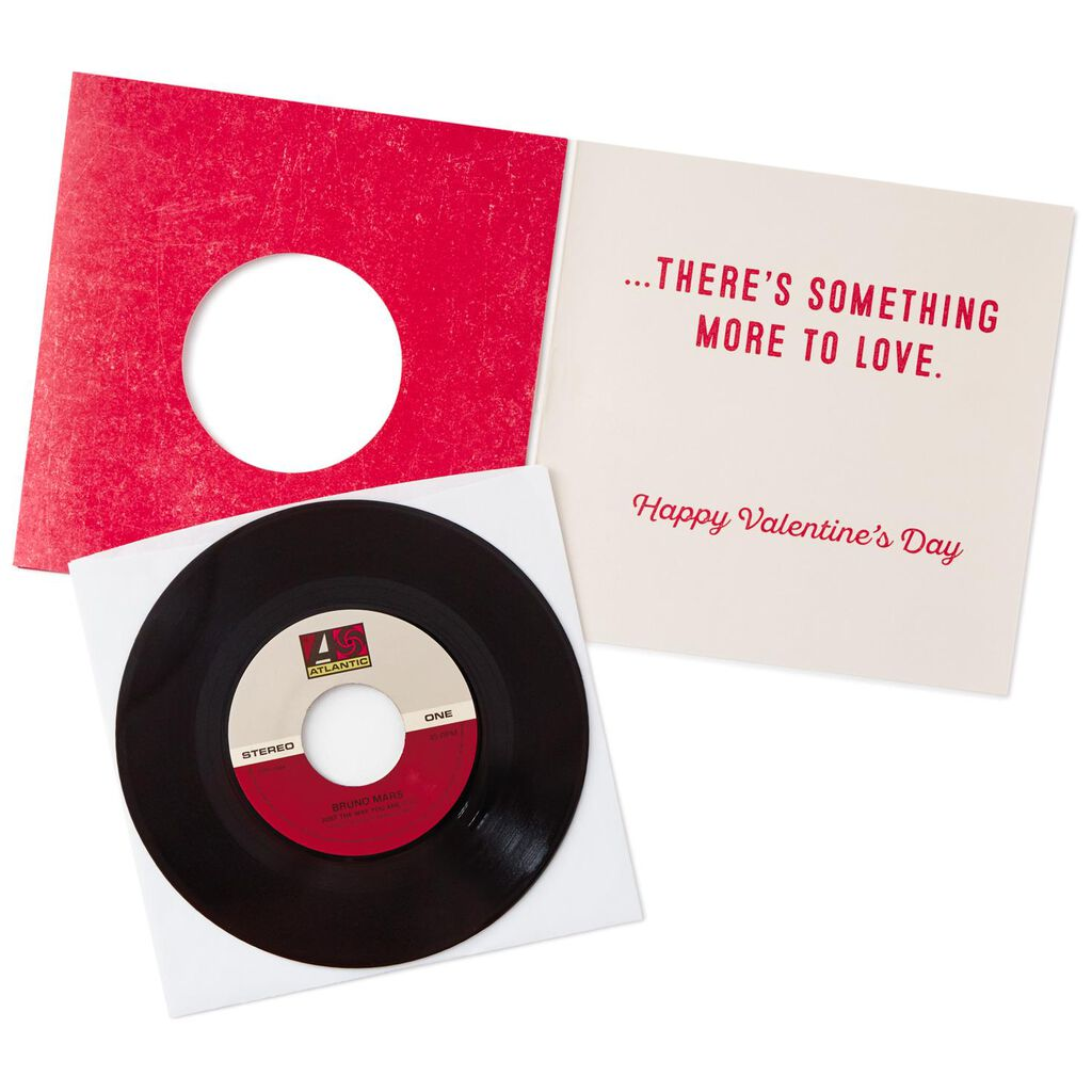 More To Love Valentines Day Card With Vinyl Record Greeting Cards
