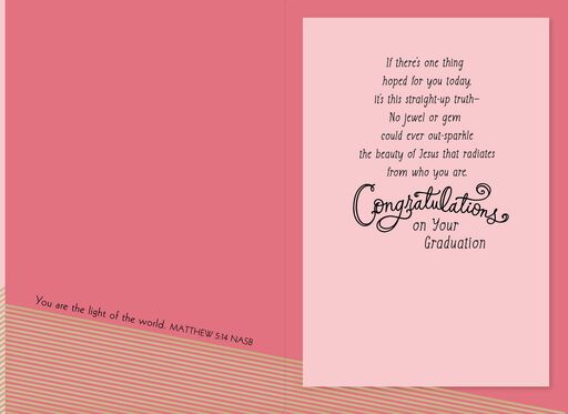 You Are Loved Religious Graduation Card for Granddaughter,