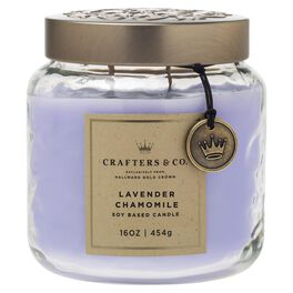 Crafters & Co. Lavender Chamomile Candle, 16-oz, , large