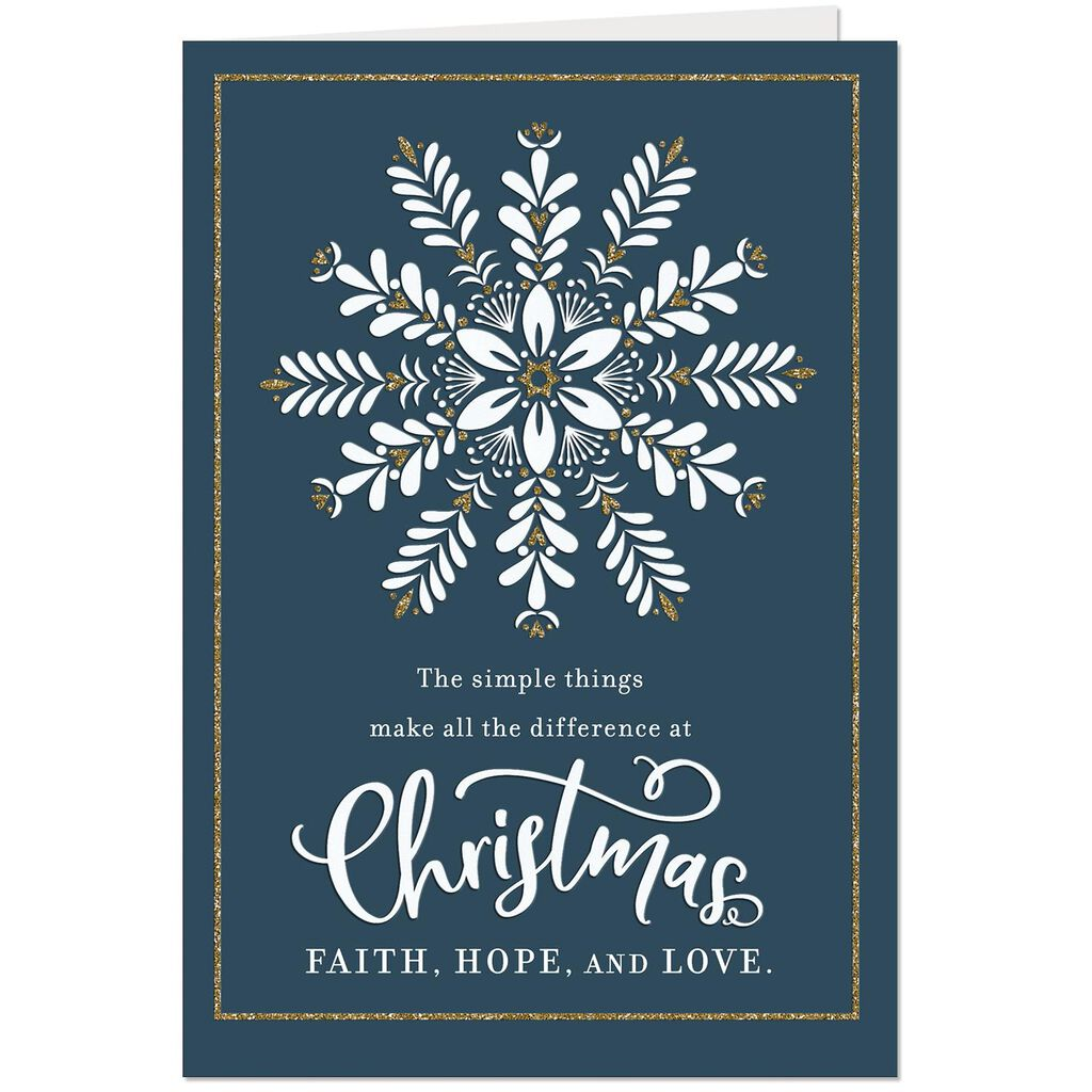 Faith Hope And Love Religious Christmas Card Greeting Cards