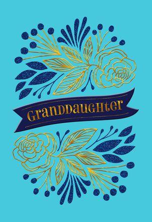 Granddaughter Banner Congratulations Card