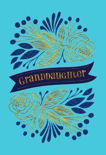 Granddaughter Banner Congratulations Card,