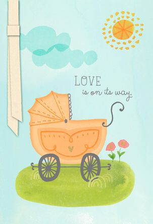 Carriage New Baby Congratulations Card