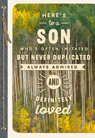 Admired and Loved Birthday Card for Son