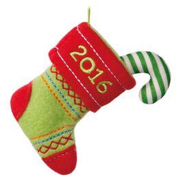 Keepsake Kids Stitched Stocking Plush Ornament, , large