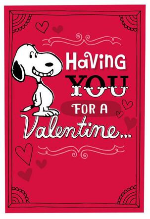 Peanuts® Snoopy Dance Valentine's Day Card