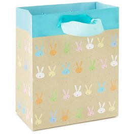 """Bunny Faces Small Gift Bag, 6.5"""", , large"""