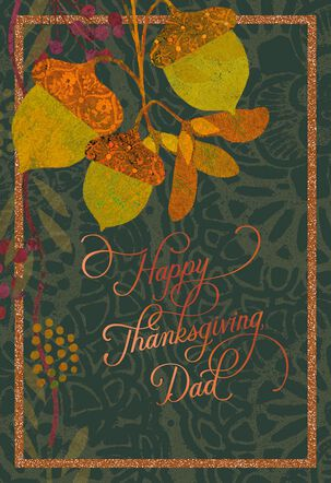Grateful for You Thanksgiving Card for Dad