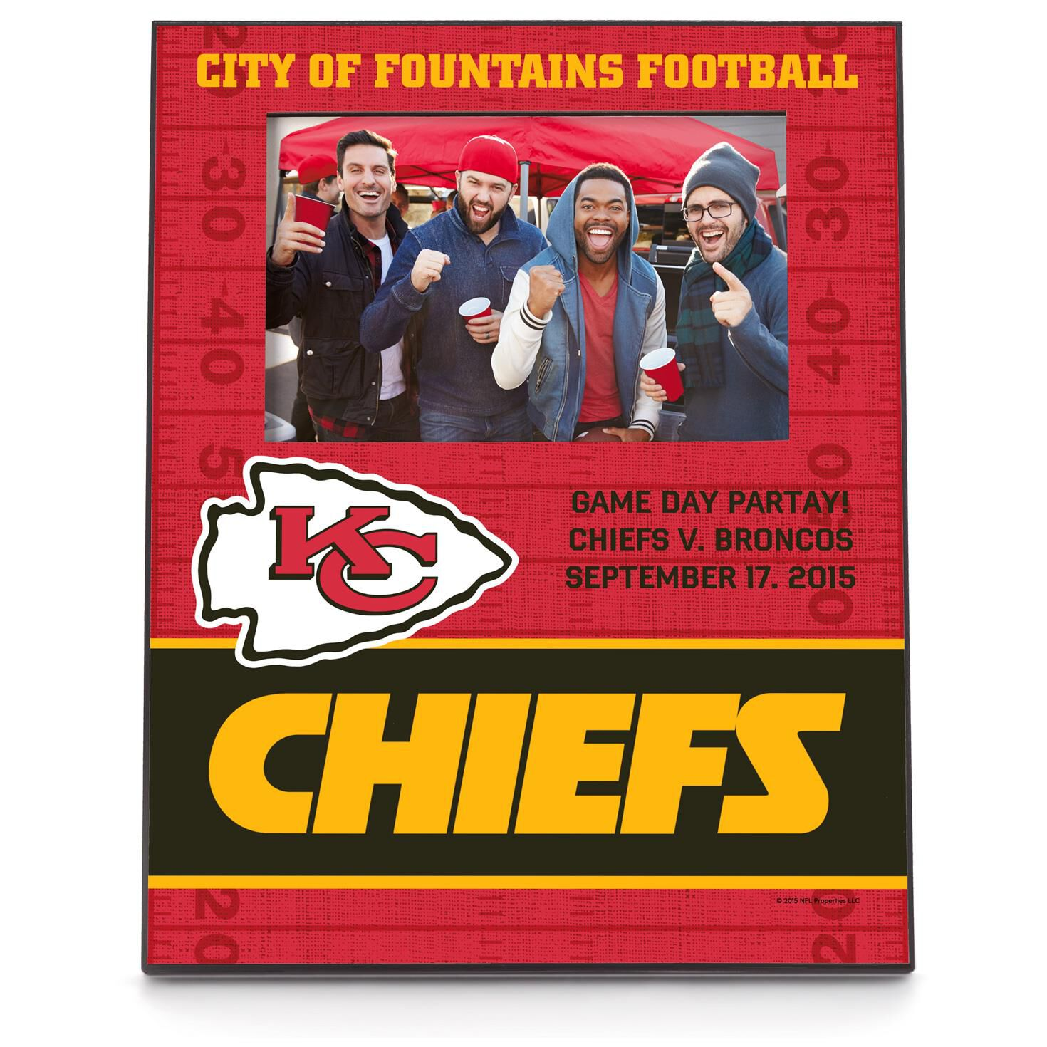 Kansas city chiefs personalized 4x6 picture frame personalized kansas city chiefs personalized 4x6 picture frame personalized home decor hallmark jeuxipadfo Image collections