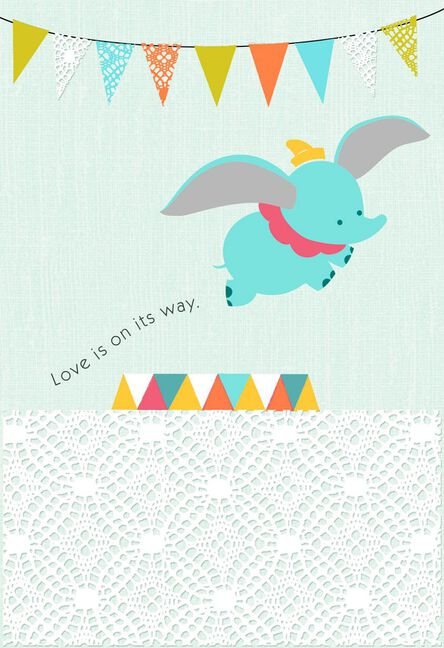 Dumbo love is on the way new baby card greeting cards hallmark dumbo love is on the way new baby card m4hsunfo