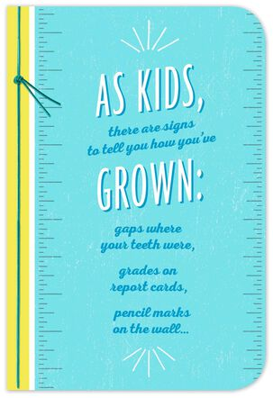 Signs of Growth Graduation Card