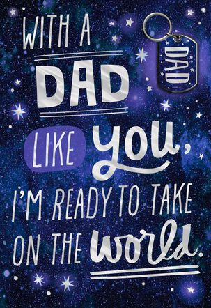 Take on the World Father's Day Card With Key Chain