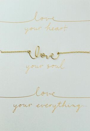 Love Your Everything Necklace Romantic Card