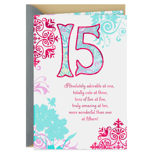More Wonderful Than Ever 15th Birthday Card