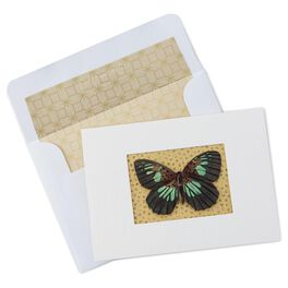 Gold Butterfly Blank Note Cards, Box of 8, , large