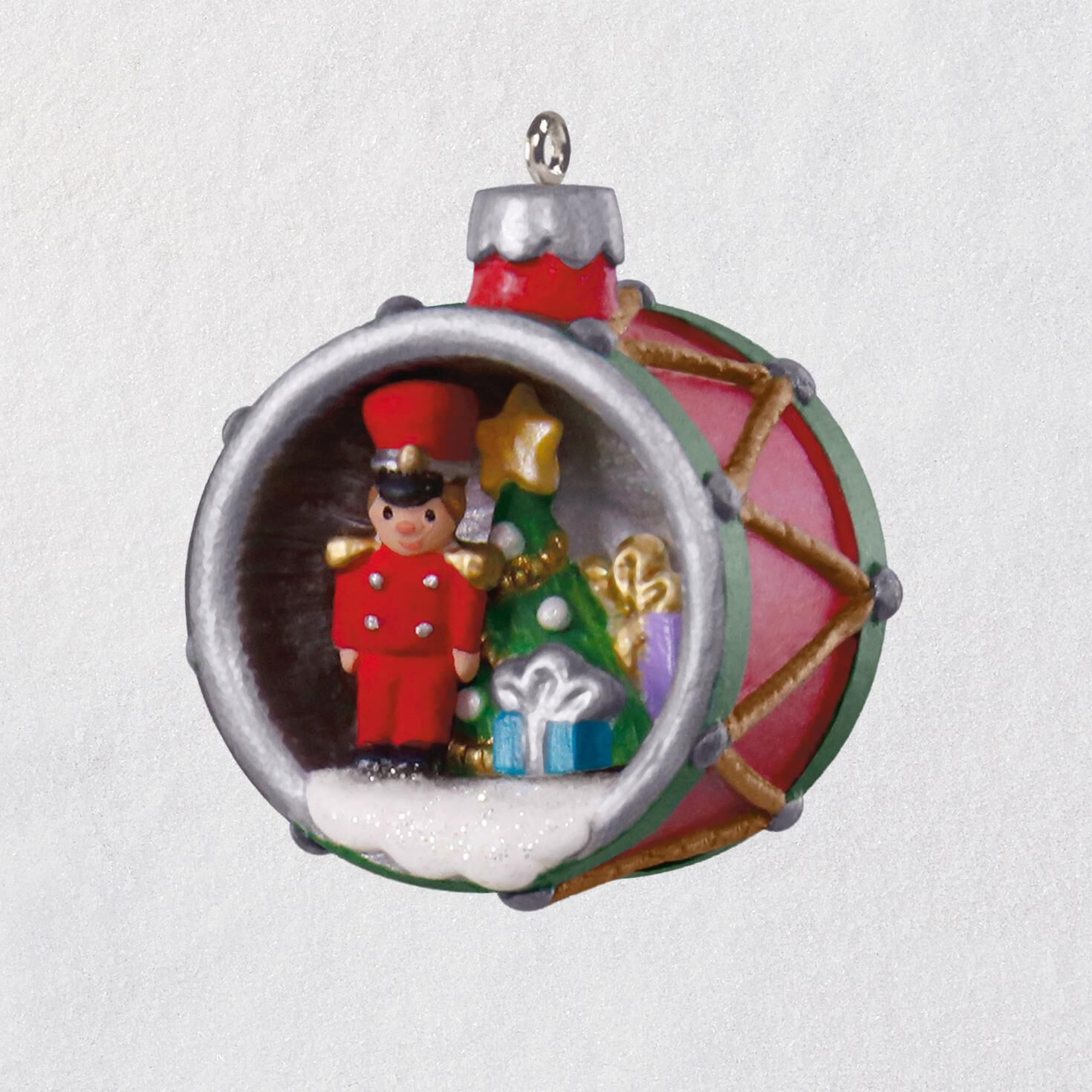 Mini A World Within Toy Soldier in Drum Ornament, 1.38\