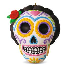 Día de Los Muertos Halloween Sugar Skull Ornament, , large