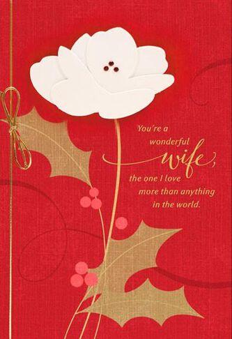 Wonderful wife christmas card greeting cards hallmark wonderful wife christmas card m4hsunfo