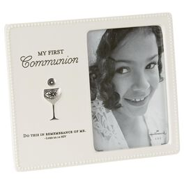 White First Communion Picture Frame, 4x6, , large