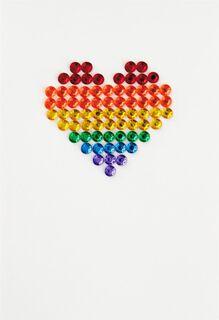 Rainbow Heart Blank Card,