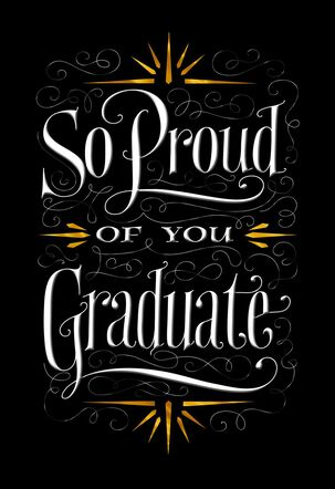 So Proud of You Graduation Card