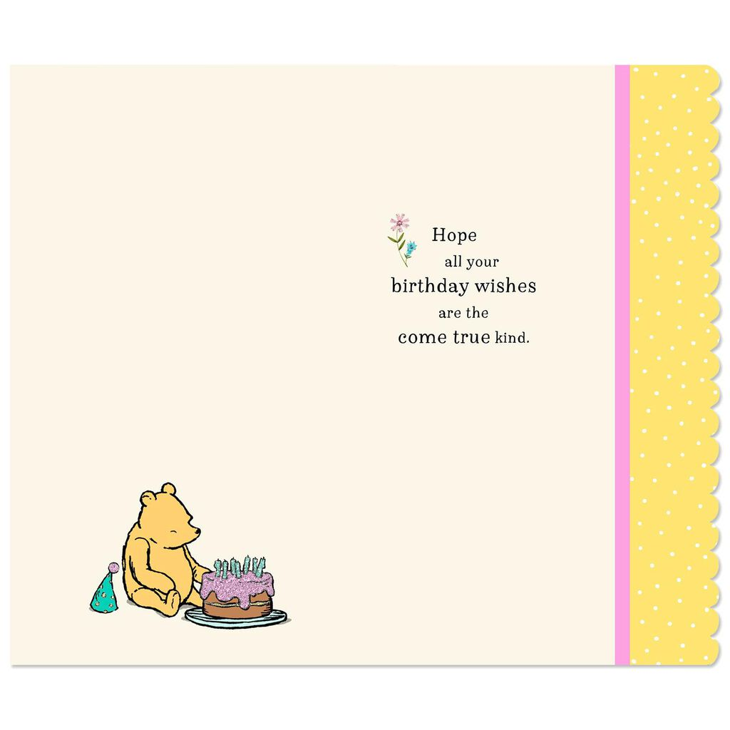 Disney Winnie The Pooh Wishes Come True Birthday Card Greeting