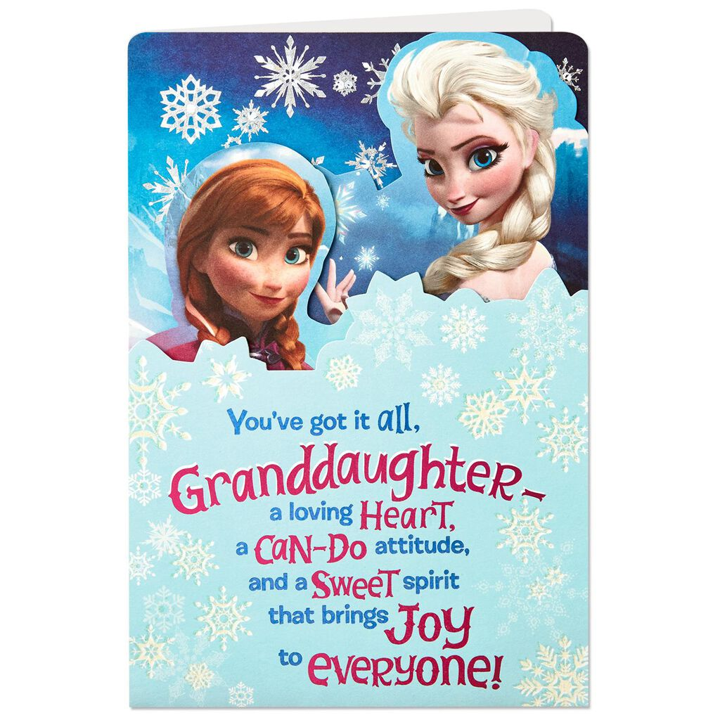 Disney Frozen Wonderful Granddaughter Displayable Birthday Card