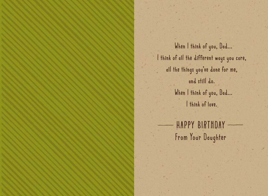 Stalwart Tree Birthday Card To Dad From Daughter Greeting Cards