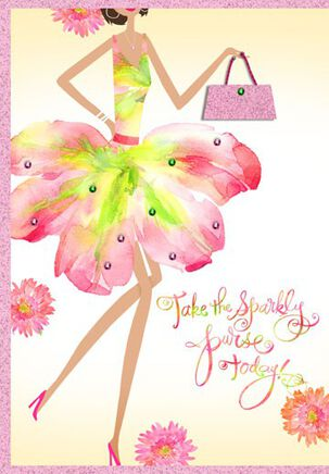 Sparkly Purse Birthday Card