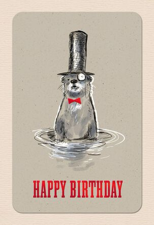 Original Otter Birthday Card