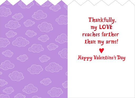 hugging dinosaurs valentines day card for a child