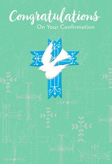 Dove and Crosses Confirmation Card,