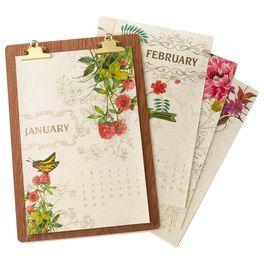 Classic Floral Premium 2017 Wall Calendar, , large