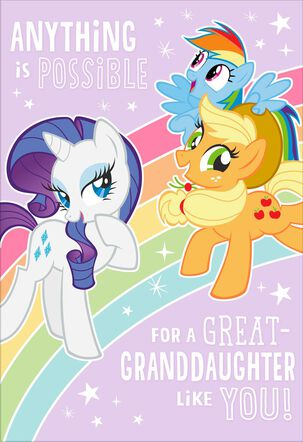 Hasbro® My Little Pony® Birthday Card for Great-Granddaughter