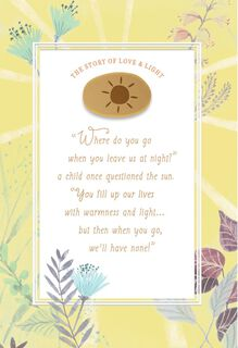 The Story of Love and Light Encouragement Card,