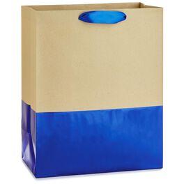 "Dipped Blue Large Gift Bag, 13"", , large"