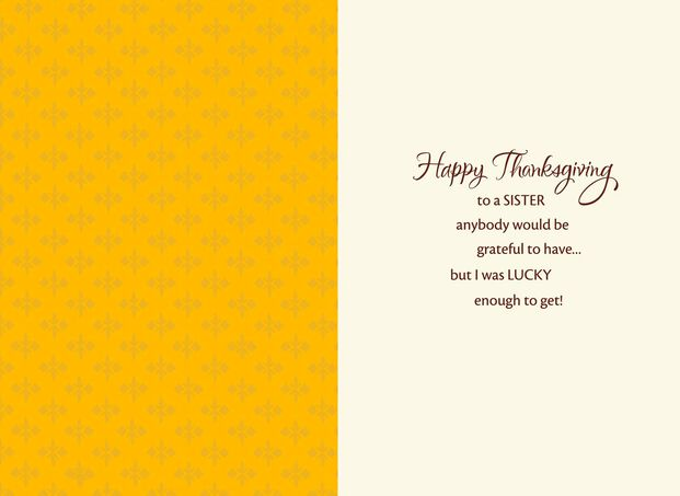 For My Sister Thanksgiving Card Greeting Cards Hallmark
