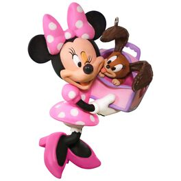 Disney Minnie Mouse Girl's Best Friend Ornament, , large