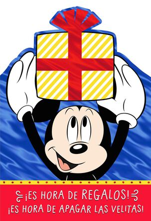 Mickey Mouse Spanish-Language Money Holder Birthday Card