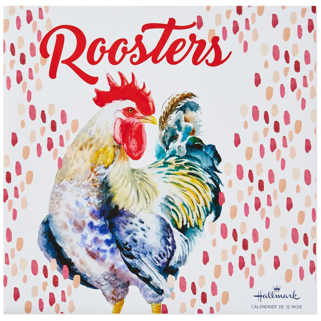 roosters 2019 wall calendar
